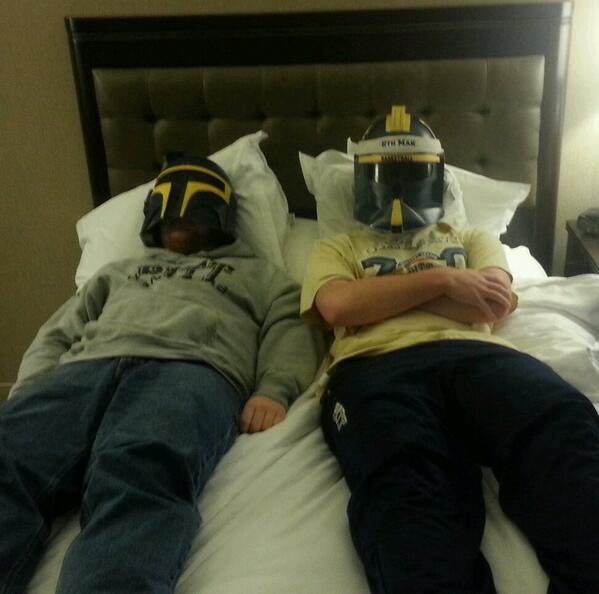 Recharging before tomorrow's game against UNC! #ACCTourney #H2P http://t.co/dMqQerb9ug