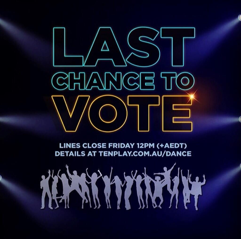 #Aussies! You have less than 5 minutes to vote on @SYTYCDAU! http://t.co/jJ3ArqM7cz