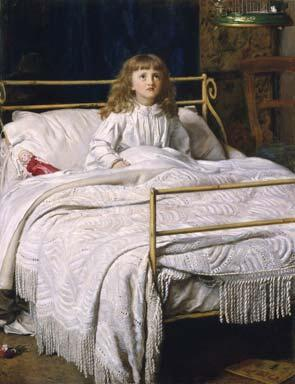 「目覚め」1865年ジョン・エヴァレット・ミレイJohn Everett Millais, Waking