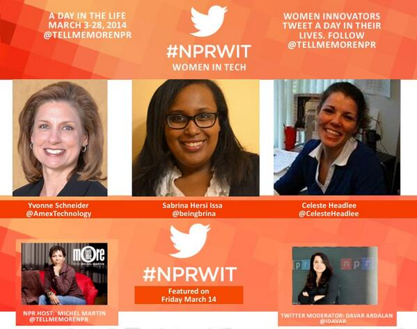 Thumbnail for #NPRWIT March 14: Sabrina Hersi Issa, Celeste Headlee, & Yvonne Schneider