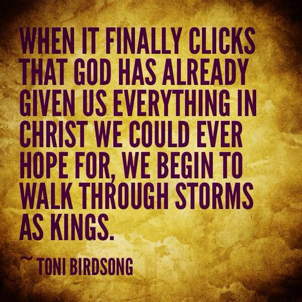 Facing a storm? Here's all you need. #Trust #TeamJesus http://t.co/3U2POYR8Ra