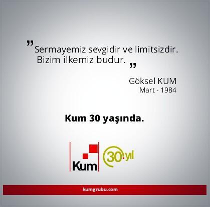 Mart 2014 - Kum Grubu 30 yaşında! http://t.co/XQBsxlCDX2