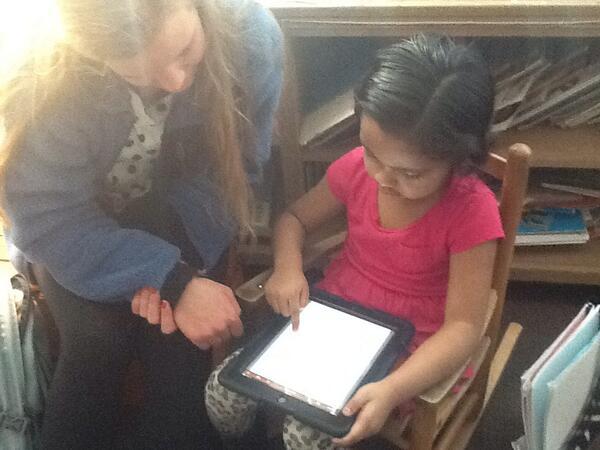 Brit. Lit. Students reading to Mrs. Homke's 1st Grade. #littlekidslovebigkids