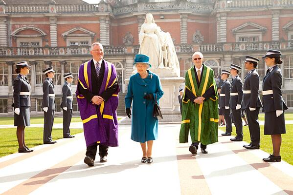 The Queen's visit today celebrating the first Diamond Jubilee Regius Professorship of Music award http://t.co/ocIh2SVc2d