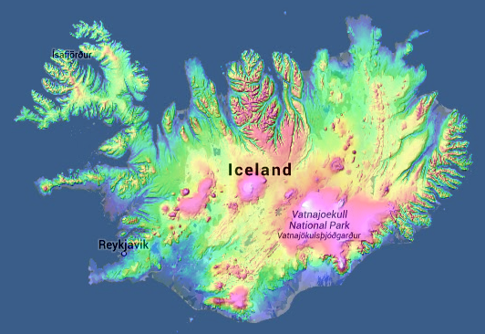 Topographic Map Of Iceland.Topographic Map Com On Twitter Iceland On Http T Co Akrbhpijyu