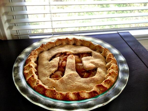 Happy Pi Day, y'all! @rowancorbett baked this from scratch. http://t.co/IsAAsoOUik