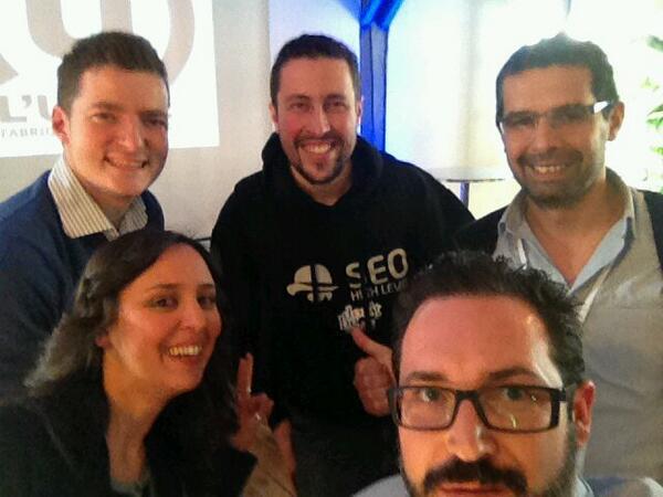 Selfie avec Yakamama entre 2 Googlers et 2 Black-Hat SEO