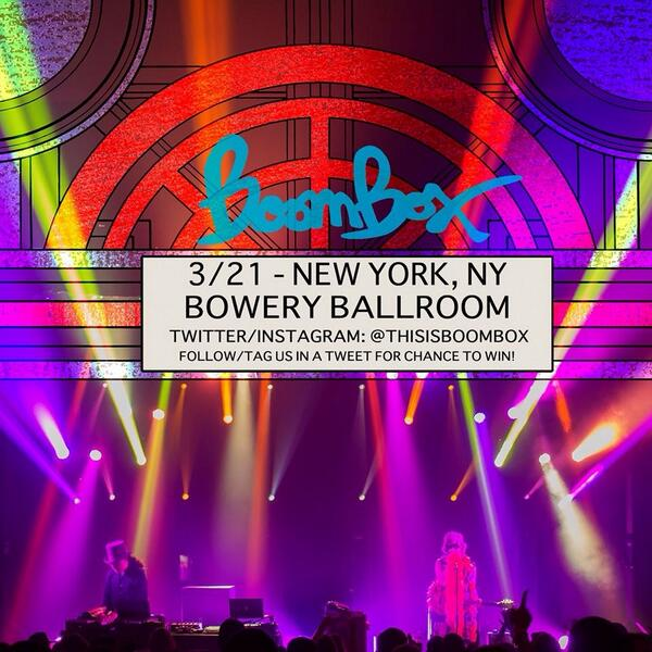RETWEET for chance to win FREE TICKETS to our show at @boweryballroom #NYC on 3/21. http://t.co/daMNr8qPNj
