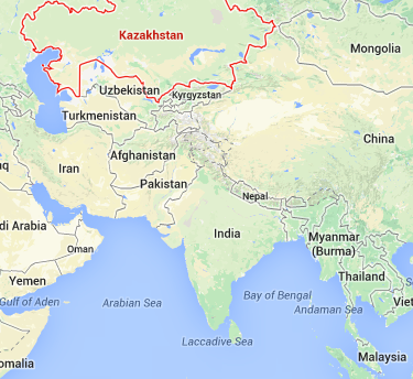 One of the possible locations of MH370 is on the border of Kazakhstan