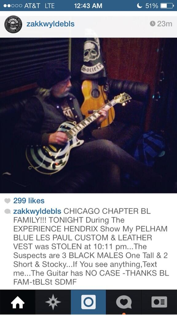 BL FAMILY!!CHICAGO CHAPTER!! PLEASE READ THE INFO ABOUT MY STOLEN PELHAM BLUE LP CUSTOM & LEATHER VEST!THANKS BL FAM http://t.co/ftkpO63hQe