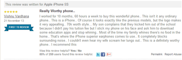 Best iPhone5S review on @Flipkart http://t.co/sRoOAFr8YC
