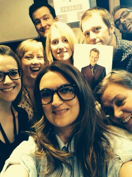 "Retweet! ""@Divine_Miss_Em: Selfie of us at @frankontheradio. Beat that for retweets Joan http://t.co/laYe1VMNCQ"""