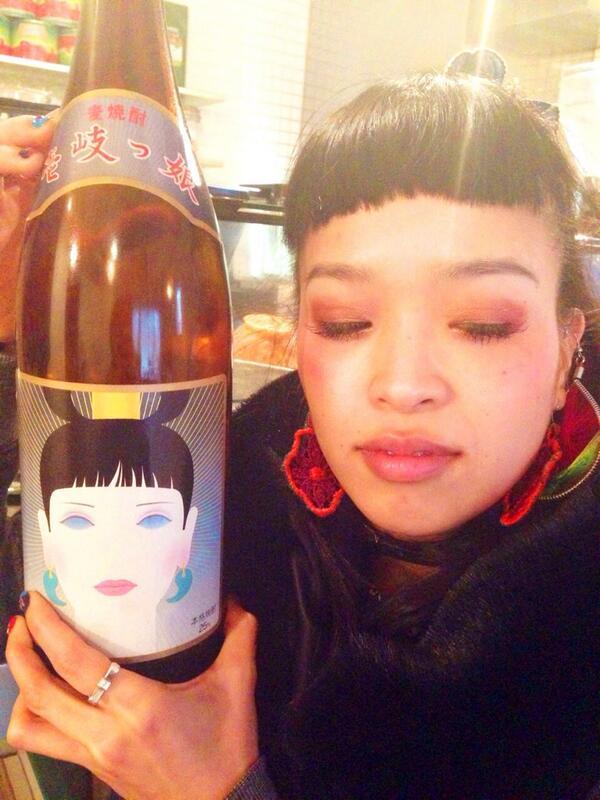 京都SOLE CAFEにて、小春の 麦焼酎 発見。