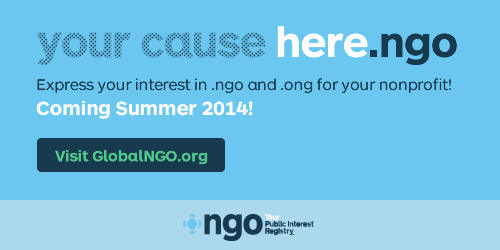 To be notified of the launch date of .ngo and .ong, please follow @PIRegistry || #14NTC || http://t.co/oxbQ3zuNLz