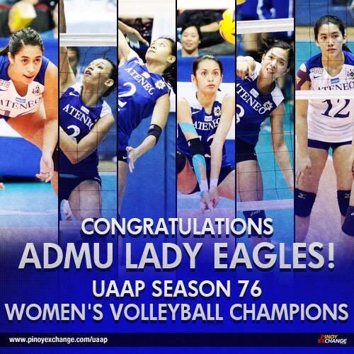 PEx UAAP Forum On Twitter Congratulations To The Ateneo Lady Eagles For Winning Their First Womens Volleyball Championship Tco CAP62rLwzY