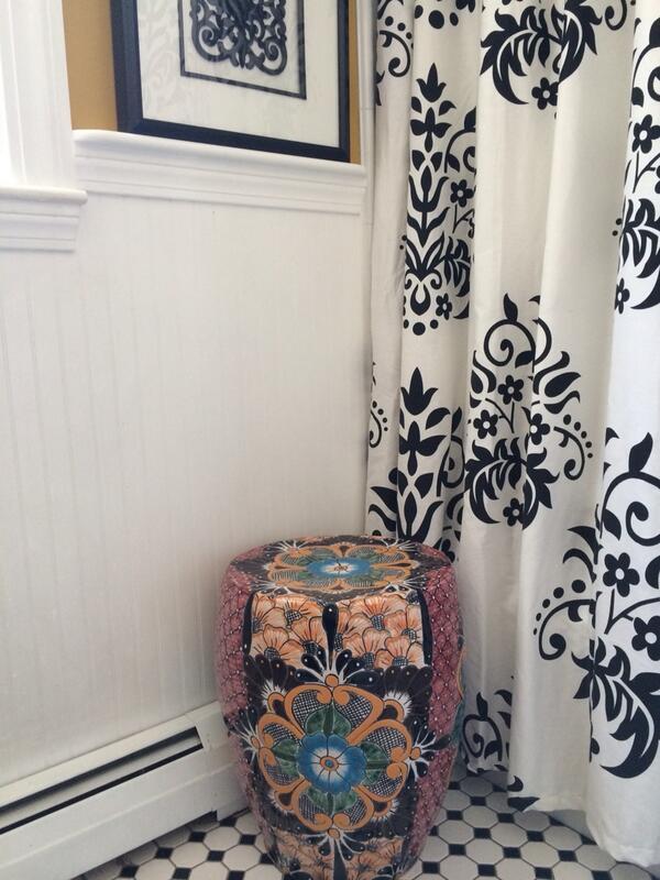 Super Homegoods On Twitter Love How This Talavera Garden Stool Machost Co Dining Chair Design Ideas Machostcouk