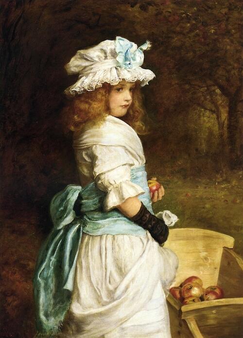「ポーモーナ」1882年ジョン・エヴァレット・ミレイJohn Everett Millais, Pomona