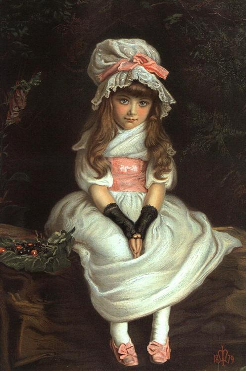 「チェリー・ライプ」1879年ジョン・エヴァレット・ミレイJohn Everett Millais, Cherry Ripe