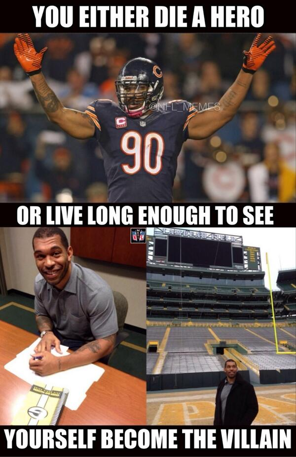 Nfl Memes On Twitter Julius Peppers Signs With The Green Bay