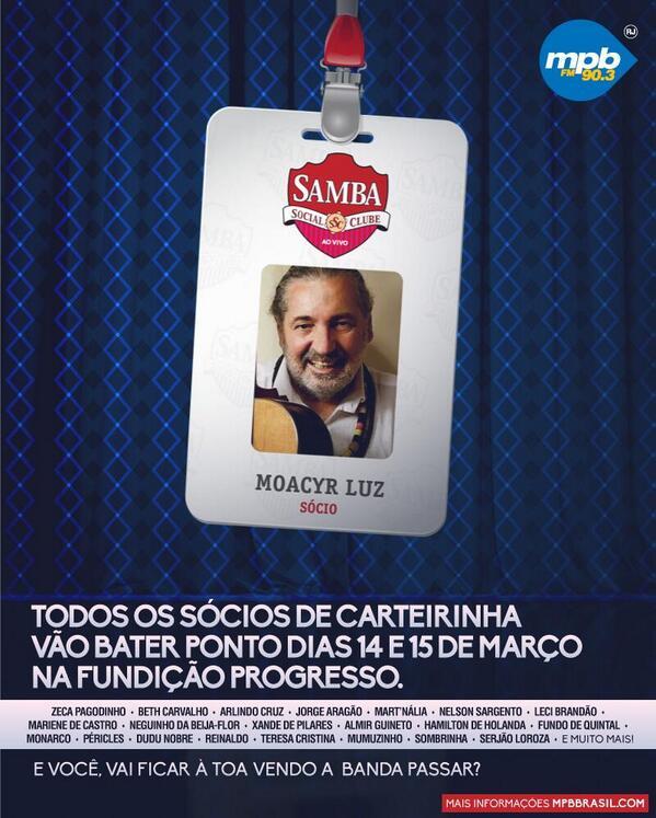 hoje tem Samba Social Clube: http://t.co/ZUUStKa1KI