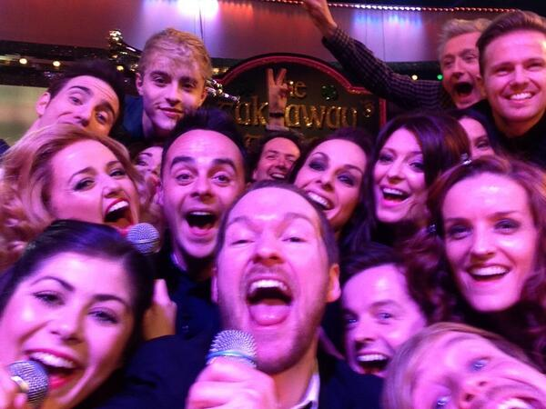 Absolute blast with @antanddec tonight. My phone is full of selfies #SaturdayNightSelfie http://t.co/52bjHUP8Nh