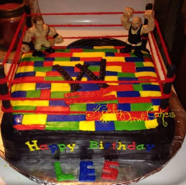 Pleasing Wwe Lego Cake Loved Raw Johncena Wwethebigshow Itsallcake Birthday Personalised Birthday Cards Beptaeletsinfo