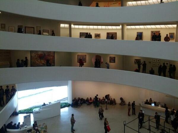 #Futurism looks fantastic on the ramps. The @Guggenheim was made for colorful geometric abstraction! http://t.co/wLqCyWwpha