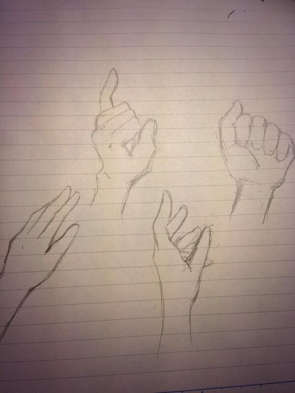 本日の恥晒し。どうやったら!手が!描けるようになるんですか!(錯乱)