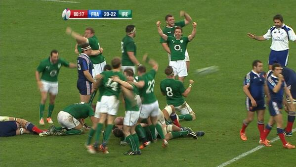 What a finish. What a game. What a team. Ireland are the 2014 Six Nations champions. http://t.co/7Siztg2Hpg