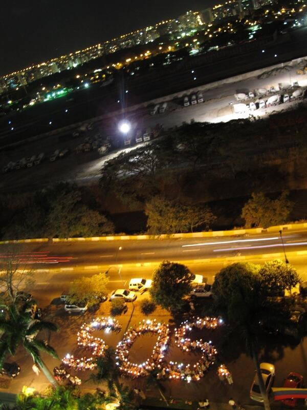 Hermoso SOS en Av Río de Janeiro. http://t.co/pBgZpeo5nY