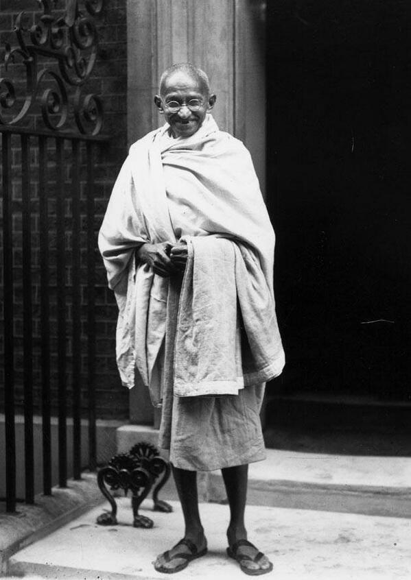 간디. 1931년 런던