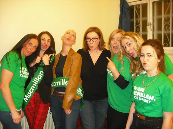 Strike a pose..... Huge thanks @SarahMillican75 for your amazing support for @macmillancancer, lovely to meet you! http://t.co/hTZR1TQ32A