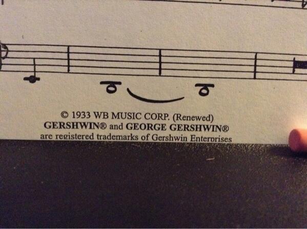 Smirking whole notes. http://t.co/QTxM5y9XIK