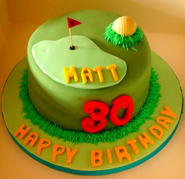 Fabulous I Design Cakes On Twitter Happy 30Th Birthday Golf Golftheme Funny Birthday Cards Online Sheoxdamsfinfo