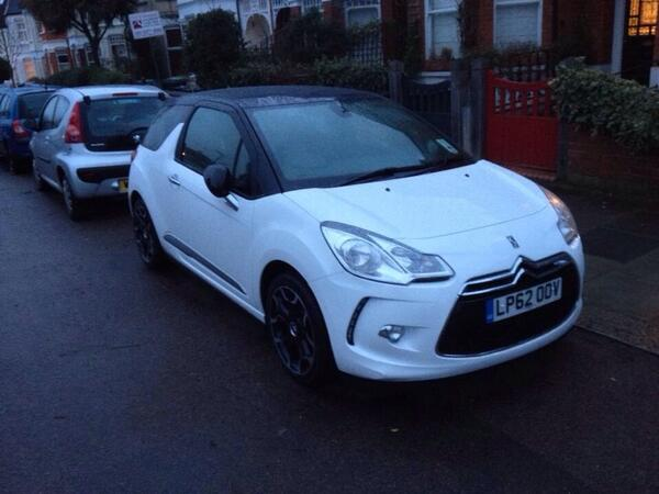 Please help find stolen DS3 from Muswell Hill, London. Legacy Skate Store & Santa Cruz stickers on rear. #rt http://t.co/dLU0HPni0N