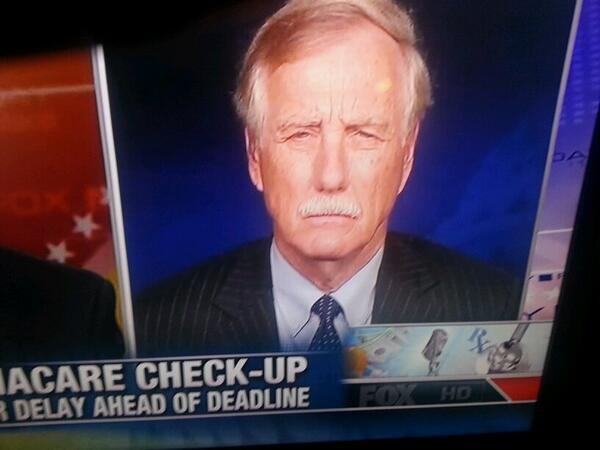 Angus King there's no such thing as ObamaCARE (Video)