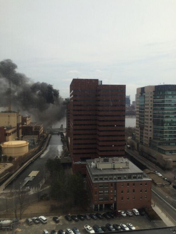 One main st in Cambridge is on fire. Building next to our office. http://t.co/Ct8Ld9w8cP