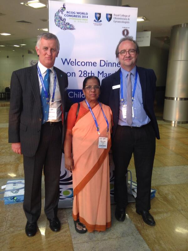 Sister Lillian Therese with the President and CEO at #rcog2014  @RCObsGyn http://t.co/xCu5RRD3NX