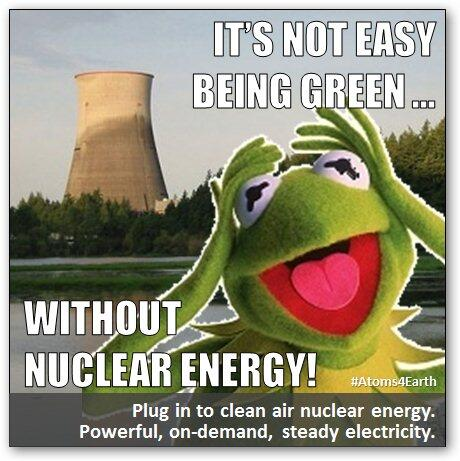 Friday's #Atoms4Earth clean air #nuclear energy meme > It's not easy being green ... http://t.co/YGOTXEVyRy