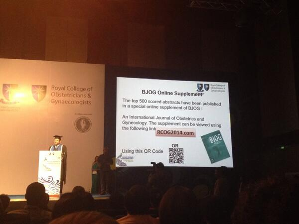 @DrPaulFogarty releases BJOGs supplement of abstracts at the inaugural ceremony of #rcog2014 http://t.co/Zl6ehNFPKB