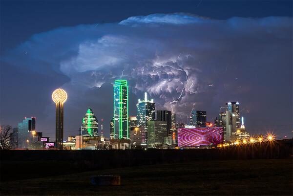 Yes this is! #dallas @JHeinl76: One of the coolest shots from last night's storm! Taken by David Worthington http://t.co/GxRxqwjQfH