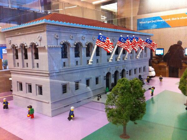 How cool! The @BPLBoston built from Legos. #architecture @universalhub http://t.co/vy0APCMvyK