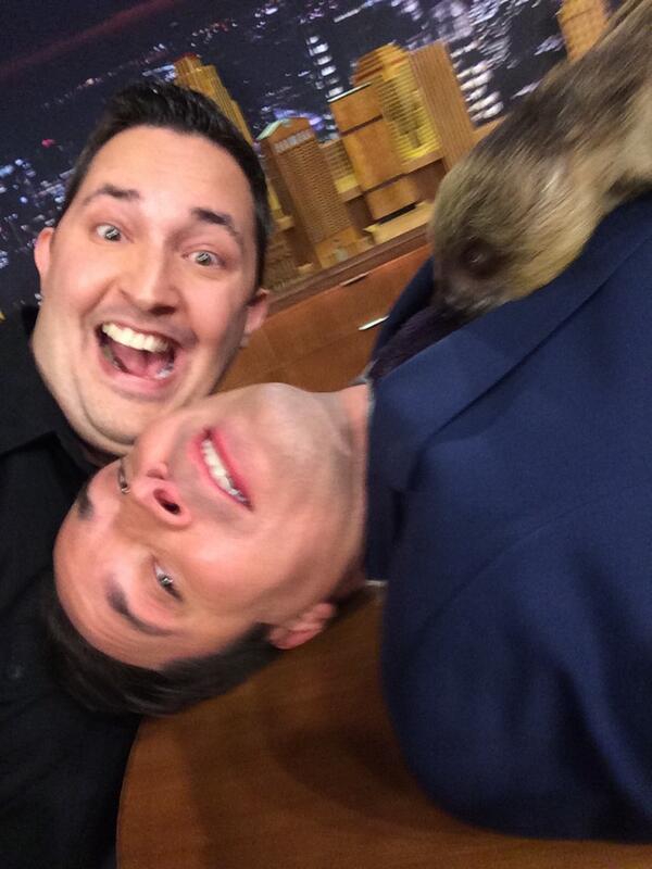 Ok getting tons of tweets to repost the infamous #Slothselfie from @FallonTonight @jimmyfallon loved it ! #Selfie http://t.co/Lmn1qyBUd1