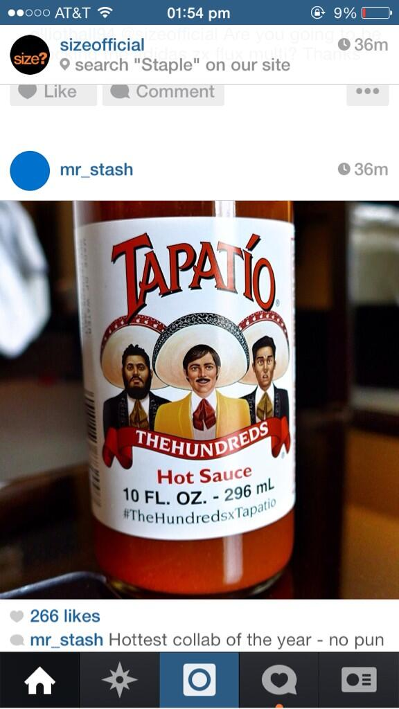 They win! RT @ModernNotoriety: OMG. The Hundreds x Tapatio http://t.co/AmVbO5sExa