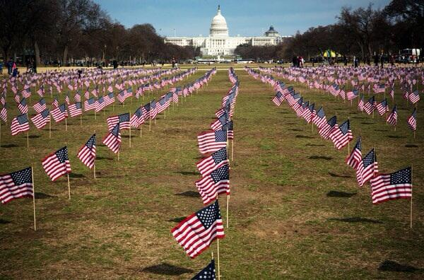 '@strobetalbott: Saddest picture in a long time: each flag marks a veteran's suicide since Jan. 1st average 22 a day. http://t.co/SD07GXw1PU