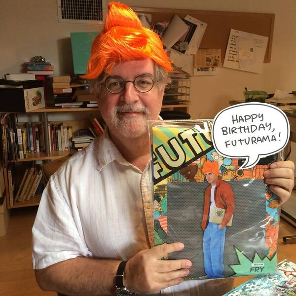 Matt Groening and his Happy 15th  #Futurama! Birthday!! #Fry all the way! http://t.co/ScOM1fkPaQ