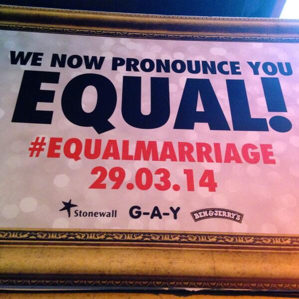 At midnight history will be made. How are you celebrating? #equalmarriage http://t.co/AzUbXrOGbx