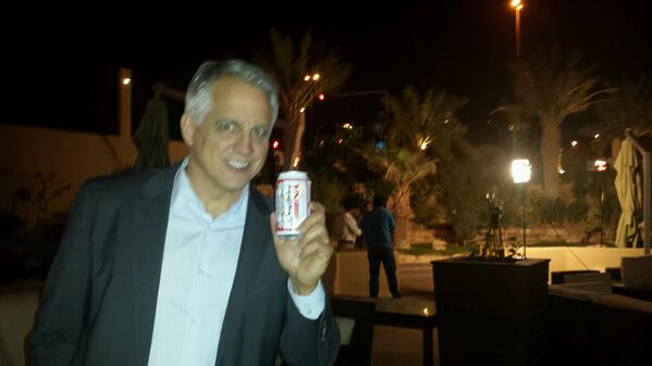 I don't often drink beer between live shots at a Marriott in Riyadh at 2am, but when I do its non-alcoholic Budweiser http://t.co/eGbgqqvyz2
