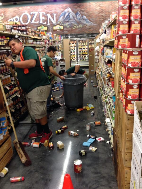 The Fullerton Sprouts store. #earthquake #LaHabraEarthquake #SoCalEarthquake #OCWeekly http://t.co/6D8lzqp50I