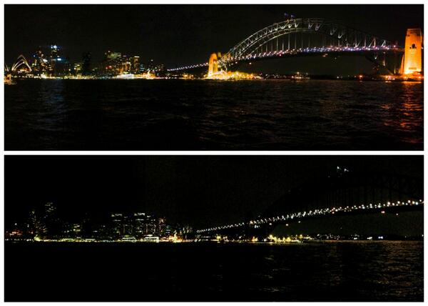 Not too bad Sydney, not too bad. #EarthHour2014 #EarthHour http://t.co/KDeHpT5NzF